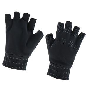 Magnetische Arthritis Handschuhe Kompression fingerlose Handschuhe für Frauen