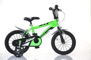 Dino Kinderfahrräder Jungen 414U-R88 14 Zoll 24 cm Jungen Felgenbremse Grün