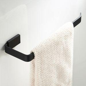 messing badezimmer küche gewebe handtuchhalter single display bar wandhalterung 26cm Schwarz