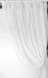 Van Deurs bestickte Gardine Foliage Shabby Landhaus Stil HxB 250x200 cm off white