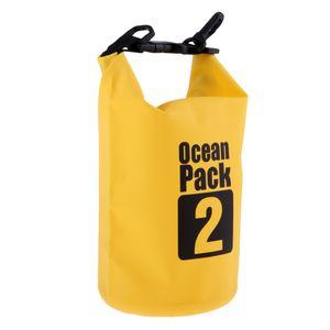 Wasserdichter Beutelbeutel des Wassers 2l PVC für das Kanu-Bootfahren, das Gelb schwimmt kayaking wie beschrieben