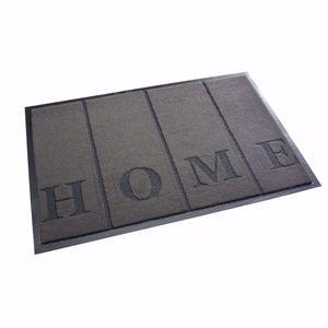 "acerto® - Schmutzfangmatte 40x60cm ""Home"" grau Fußmatte Türmatte Sauberlaufmatte"