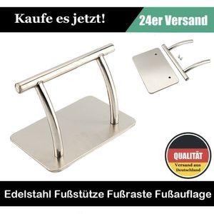 Fußraste Hochwertig Edelstahl Fußstütze Stand für Friseurstuhl Friseursalon