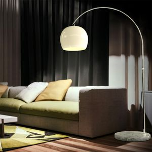 LED Bogenleuchte Bogenlampe Stehlampe Standleuchte Lampe Wohnzimmerlampe weißE27, Farbe:Weiss. höhenverstellbar 130-180cm