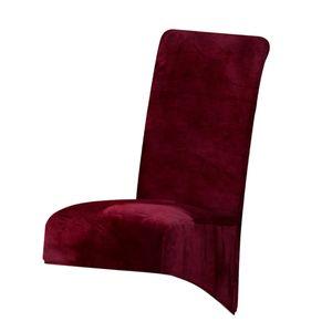 Velvet Large Stretch Esszimmerstuhl Schonbezug Home Decor für Hochzeitstreffen XL rot Morden Einfarbig