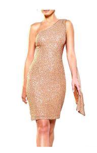 APART Paillettenkleid m. Schal, nude Schnäppchen Größe: 36