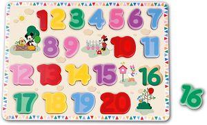 Disney Mickey & Freunde Steck Holz Zahlen Puzzle Lernen Spielzeug
