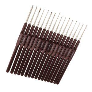 16 Größen Aluminium Häkelnadel Häkelnadeln set Stricken Häkeln hochwertigen Aluminium Häkelhaken Nadeln 0,5mm-2,5mm Mehrfarbig