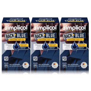 Simplicol Textilfarbe Back to Blue 400g - Erneuert die Farbe (3er Pack)