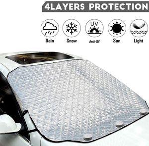 Magnetische Frontscheibenabdeckung Auto Frontscheibe Frostschutz Sonnenschutz Schneeschutz Windschutz 147*126CM