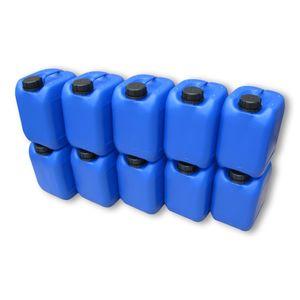 10 Stück 5 Liter 5 L Kanister Wasserkanister Campingkanister Farbe blau lebensmittelecht DIN51 (10x5knb51)