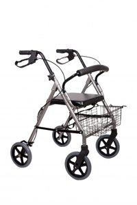 Leichtgewicht Rollator AT51003 mit *Sitz und gepolstertem Rückenbügel*