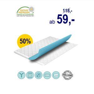 Matratze schöner Karex® Komfort 90x200 6cm Matratzen Topper H3 H4 Orthopädisch 7 Zonen Auflage