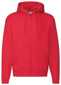 Fruit of the Loom Premium Hooded Sweat Jacket, Farbe:rot, Größe:XL