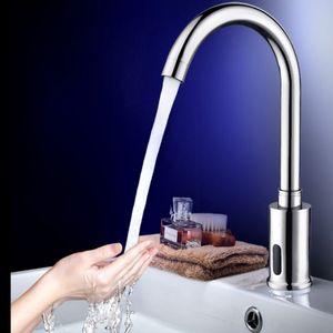 Hochwertig Infrarot Sensor Kaltwasser Wasserhahn Automatik Waschtischarmatur Wasserfall Waschbecken Armatur für Badzimmer