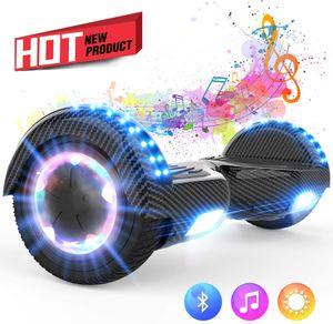 """Hoverboard Selbstausgleichender Elektroroller 6,5"""" - Hoverboards 2020 Elektro Scooter E-Skateboard - Scooter - UL en 2272 LED - Räder mit LED Licht -Bluetooth Lautsprecher – 700W Motor"""