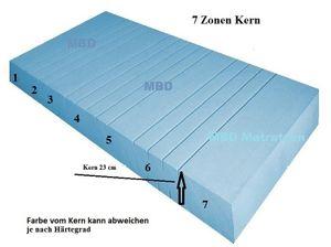 MBD Orthopädische 7 Zonen Matratze, MBD LUX 25 XXL Höhe 25 cm, Raumgewicht von 40 kg 90x200 cm - H3