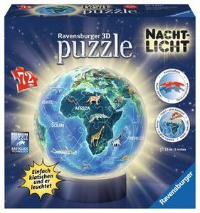 Ravensburger 3D Puzzle Ball Nachtlicht Erde im Nachtdesign