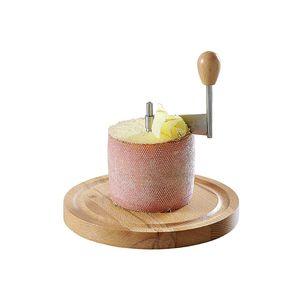 Kesper 68620 Käsehobel aus Buchenholz für 'Tete de moine'-Käse, Ø 16 x 21 cm, natur