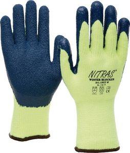 NITRAS Kälteschutzhandschuhe Winter Blocker Größe 10 gelb/blau EN 388, EN 511 PSA-Kategorie II