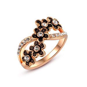 Ring Damen Infinity Unendlichkeit Blume Silber Gold Zirkonia Kristall Strass Flower rosegold 57 - Ø 18,14 mm