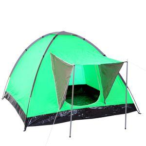 Campingzelt Loksa, 2-Mann Zelt Kuppelzelt Igluzelt Festival-Zelt, 2 Personen  grün