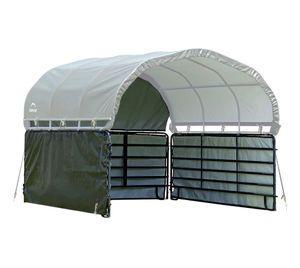 ShelterLogic Seitenteile Weidezelt 3,7x3,7 m grün Seitenverkleidung ohne Stahlgestell Weideunterstand Unterstand Pferdeu