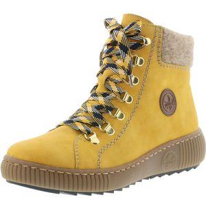 Rieker Damen Schuhe Schnürboots Stiefeletten Warmfutter Z6633-68, Größe:38 EU, Farbe:Gelb