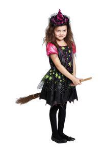 Halloween Kinder Kostüm Magische Hexe Kleid verkleiden Größe 128