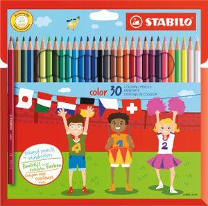 STABILO Buntstifte color sechseckig 30er Karton Etui