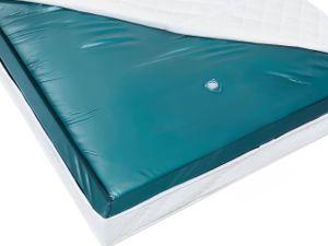 Wasserbettmatratze Blau Vinyl 140 x 200 cm Mono System Leicht beruhigt Soft Side ein Wasserkern