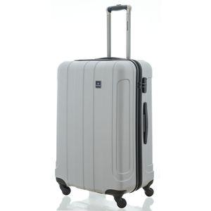 Saxoline Matrix ABS Koffer viaccio Trolley Größe M silber