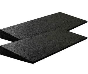 SZ Metall Bordsteinrampe Gummi 500x200x (8-43) mm, schwarz, Set = 2 Stk