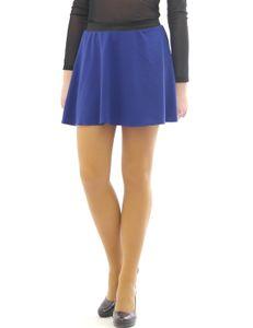 Swing Rock Mini hohe Taille Falten-Rock Gummibund Skirt Minirock blau XXL/3XL