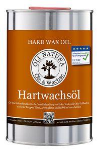 OLI-NATURA Hartwachsöl,  Allergikerfreundlich, Inhalt: 1 Liter, Natur