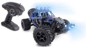 Overmax X-Flash ferngesteuerter RC Buggy 45 km/h, 1:18, 2 Akkus, Allrad, 100m, Öl Stossdämpfer, LED Licht, Auto