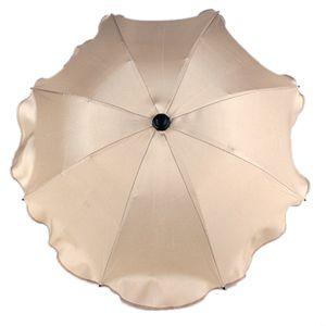 BAMBINIWELT Sonnenschirm für Kinderwagen Ø68cm UV-Schutz50+ Schirm Sonnensegel Sonnenschutz, beige
