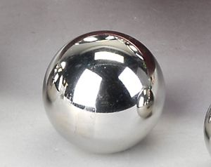 Formano - Dekokugel  6cm Edelstahl glänz