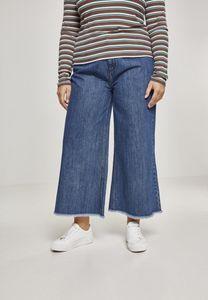 Urban Classics Damen Hose Ladies Denim Culotte Ocean Blue-M