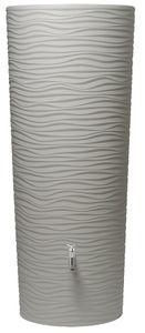 Garantia NATURA 2in1 Regenspeicher Regentonne Regenspeicher 350 L, 62x62x150 cm (LxBxH), beach creme weiß; 326151