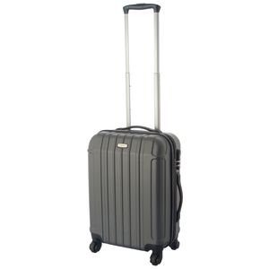 Hartschalen-Koffer Handgepäck Trolley / S - 55x39x20 cm / Reisekoffer Hartschale 4-Rollen - Farbe: anthrazit
