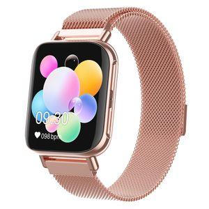 1 Stück Smart Watch,1 Stück Ladekabel,1 Stück Benutzerhandbuch Goldstahl 1,54 Zoll