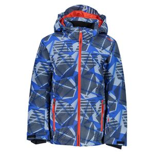 Cmp Boy Jacket Snaps Hood Royal / Bright Blue / White 6 Years