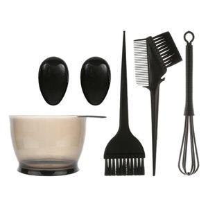 Haushalt Haar Colorationen Werkzeug, Premium Färbeschale + Pinsel + Kamm + Ohrabdeckungen + Rührstab Andere Schwarz Haarfärbemittel Haarfarbe Schüssel und Pinsel Set
