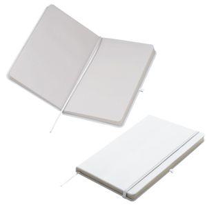 Notizbuch / DIN A5 / 160 S. / blanko / samtweiches PolyurethanHardcover / Farbe: weiß