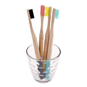 Bunte Kopf Bambus Zahnbürste Mundpflege Weichen Borsten Großhandel Umwelt Holz Regenbogen Bambus Zahnbürste