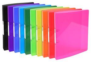 Ringbuch Iderama mittelstark DIN A4 PP 30mm 2 Ringe farbig sortiert