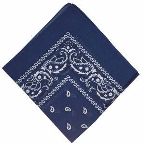 50 % Rabatt - nationale Baumwolle Paisley Bandana doppelte Seite Kopf wickeln Schal Armband Halstuch von Boolavard (Navy)
