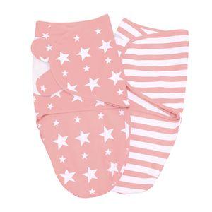 Baby Pucksack 2er Set, Farbe:Rosé, Größe:S/M. 0-3 Monate (3.2 - 6.4 kg)