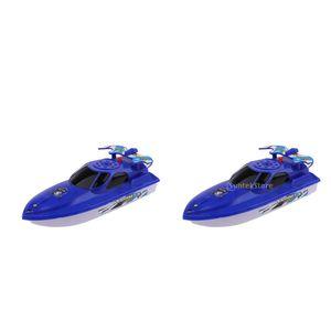 2 Stück Wasserboot Spielzeug Sommer Baby Kinder Schwimmen Badewanne Spielzeug Klassisches Uhrwerk